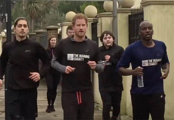 Prince Harry with The Running Charity