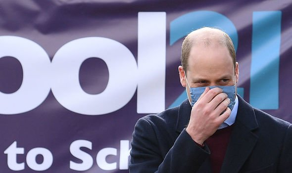 Prince William: The royal pictured during his visit to an East London school this month