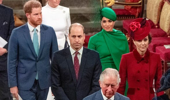 A frostiness between the Sussexes and Cambridges was clear last March