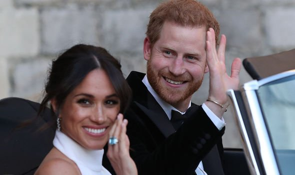 Royal wedding: Meghan and Harry pictured heading to their wedding afterparty, 2018