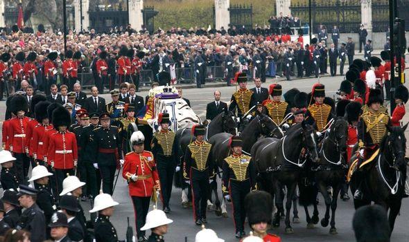 The Queen Mother's funeral in 2002