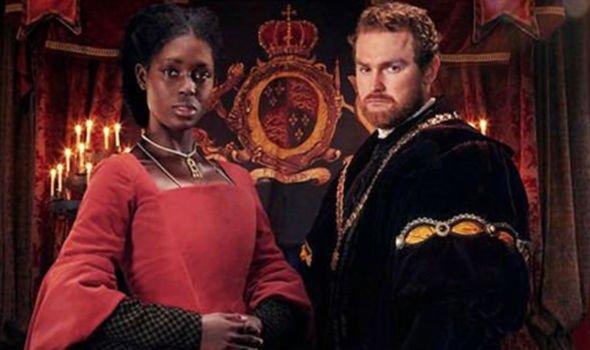 Jodie Turner Smith as Anne Boleyn and Mark Stanley as King Henry VIII