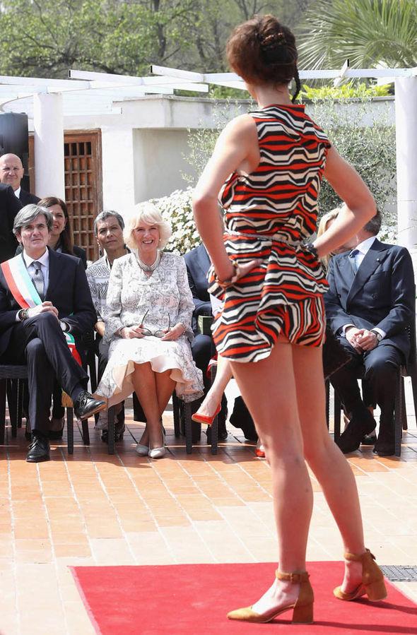 Duchess Of Cornwall Camilla Tries Traditional Italian