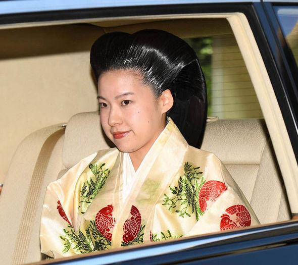 Japan's Princess Ayako arriving for her wedding