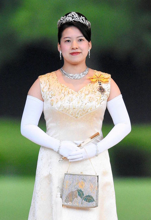 Princess Ayako on Friday when she paid respects to the Japanese royal family dynasty