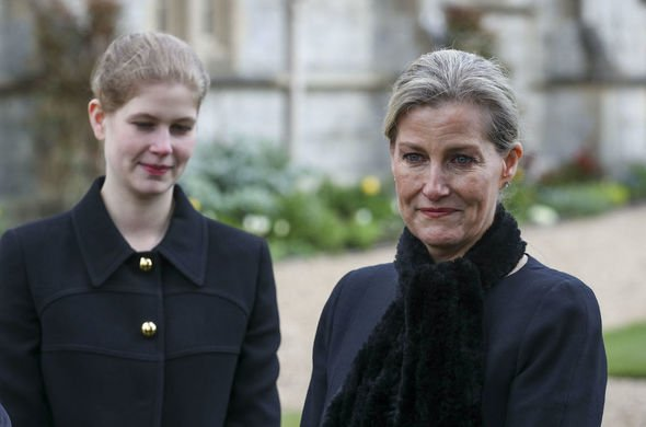 lady louise windsor news pictures queen prince philip funeral carriage royal family news
