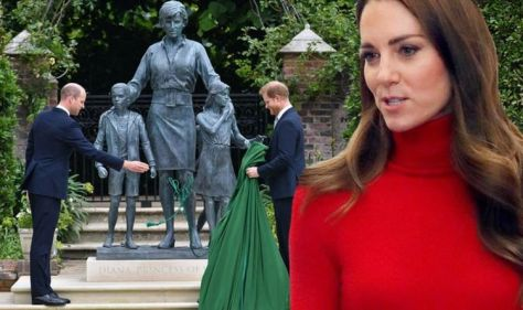 Kate and William honour Diana at poignant ceremony as Harry's absence sorely felt