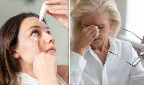 Menopause symptoms: Seven 'uncomfortable' issues that can develop in the eyes