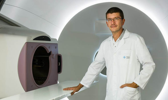 Proton beam therapy: Eric Day was treated at the Proton Therapy Centre in Prague