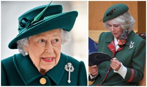 'Grace personified': The Queen & Camilla's matching brooches give nod to previous monarchs