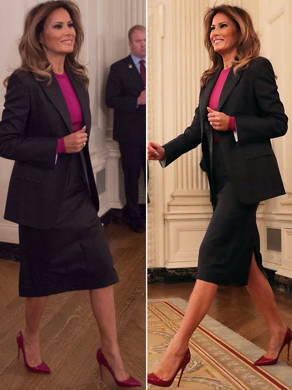 Melania Trump Donald Wife Wears POWER Suit After Stormy