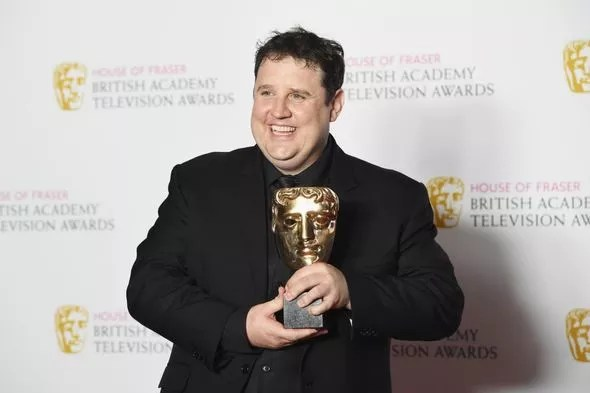 Peter Kay with a BAFTA