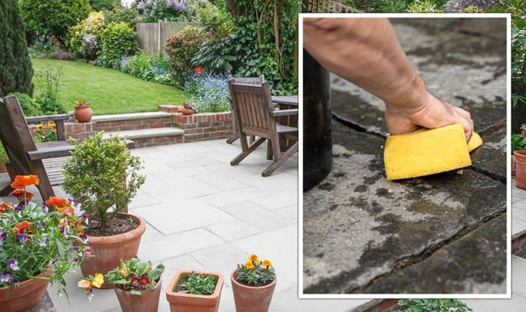 how to clean a patio without a pressure