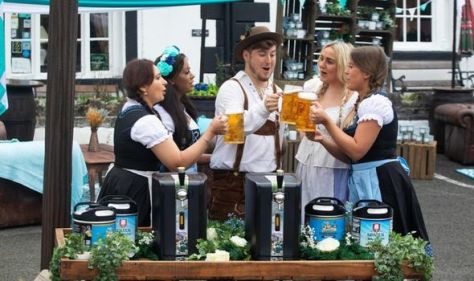 UK's smallest town transformed into Oktoberfest-style party town - featuring oompah bands