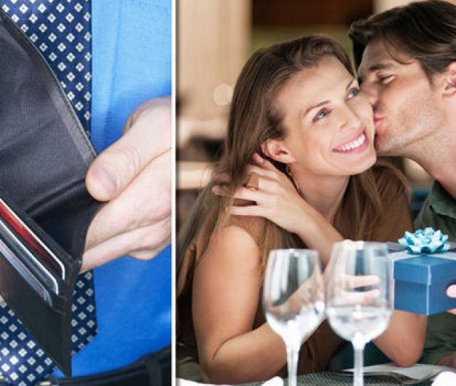 Man With An Empty Wallet On A Date With A Woman
