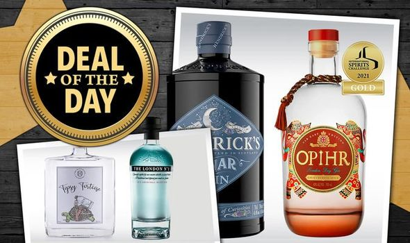 Deal of the day promo image with gin collage