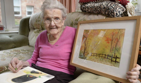 Stunning art of part-blind 95-year-old | Express.co.uk