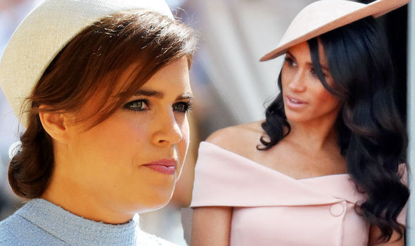 meghan markle princess eugenie curtsey news pictures exclusive