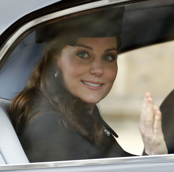 Kate Middleton in a car