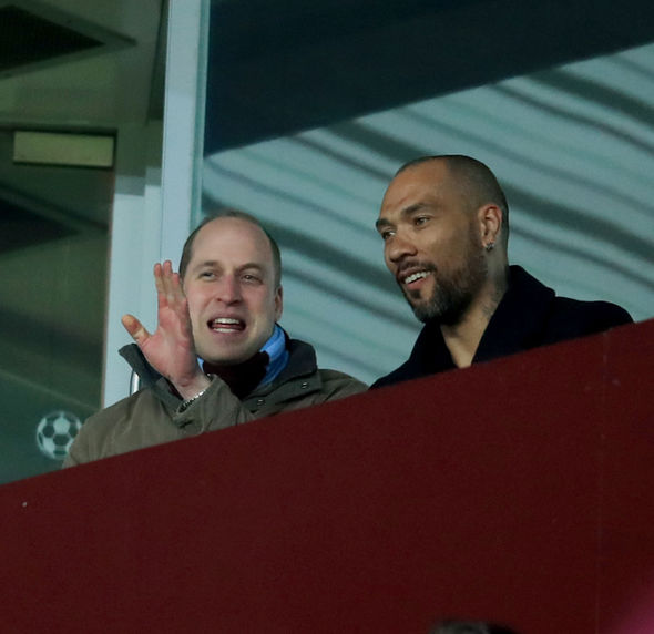 Prince William watching Aston Villa