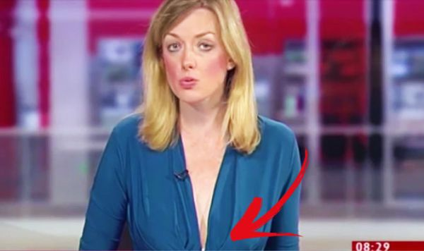 Reporter wears plunging neckline on BBC Look East | Life ...