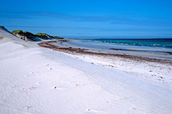 Sandy beach on Westray