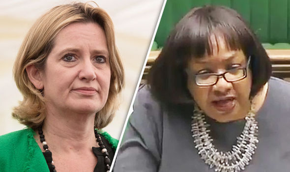 Amber Rudd and Diane Abbott