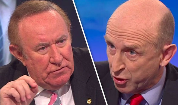 Andrew Neil and John Healey