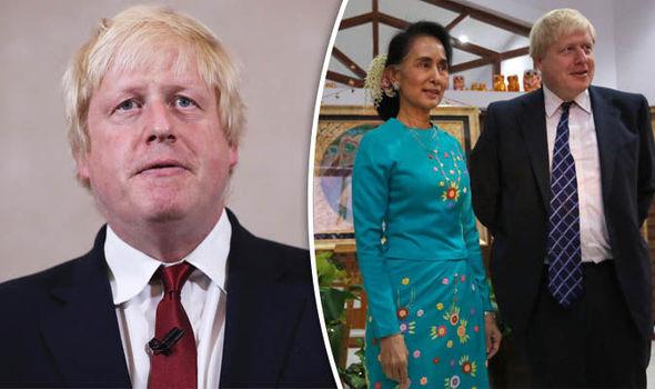 Boris Johnson Aung San Suu Kyi