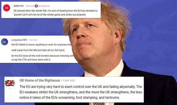 Britons urged Boris to scrap NI Protocol