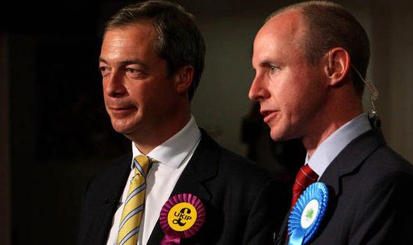 Conservative MEP Daniel Hannan & Nigel Farage 2009