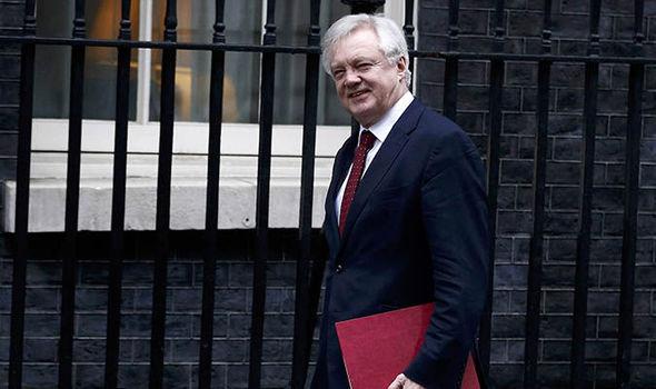 David Davis arriving at Number 10
