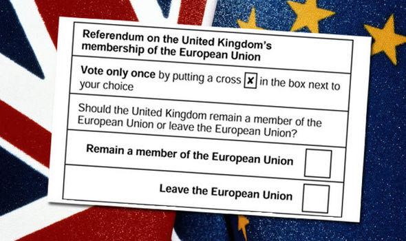 Risultati immagini per uk referendum votes