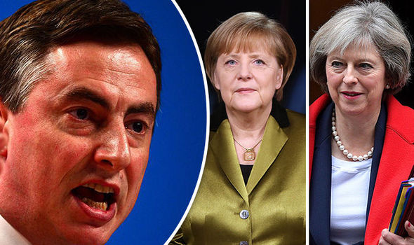 David McAllister, Angela Merkel, Theresa May
