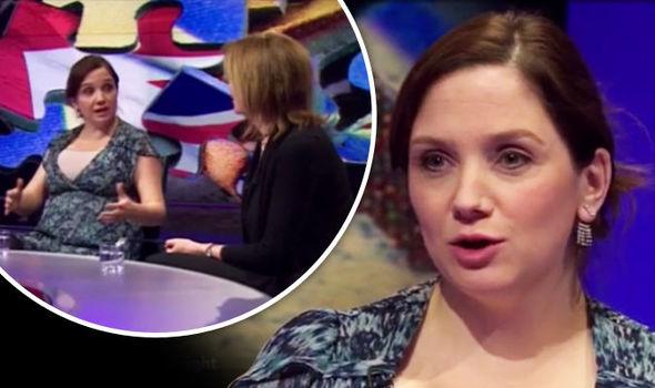 Julia Hartley-Brewer speaking on Newsnight
