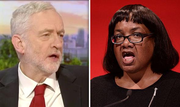 Jeremy Corbyn defends Diane Abbott
