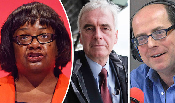 Diane Abbott, John McDonnell and Nick Robinson
