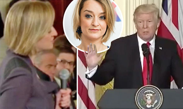 BBC political editor Laura Kuenssberg questioned Donald Trump during a press conference