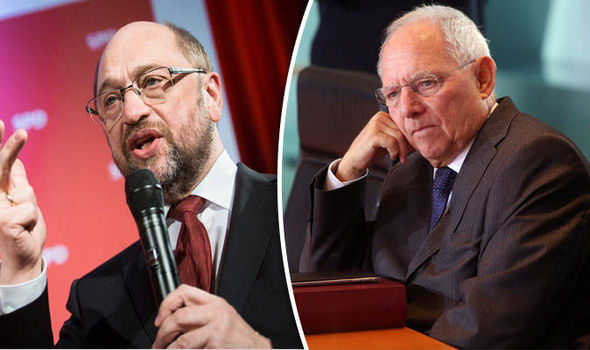Wolfgang Schauble and Martin Schulz
