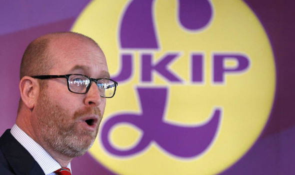 Ukip leader Paul Nuttall speaking in Stoke