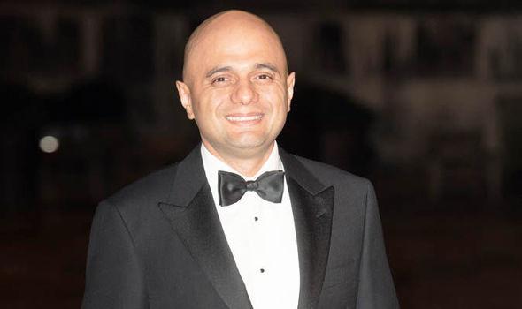 Sajid Javid in a black suit