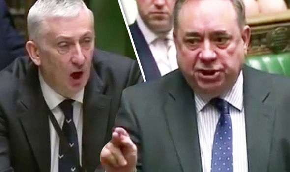 Salmond explodes in Parliament