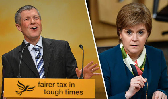 Willie Rennie and Nicola Sturgeon