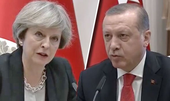 Theresa May will disucss post-Brexit trade talks with Turkey's President Recep Tayyip Erdogan