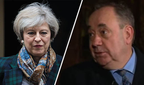 Theresa May and Alex Salmond