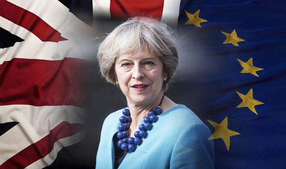 Image result for image of Theresa May and Brexit