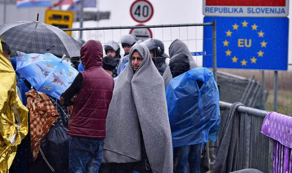 Migrants cross from Croatia into Slovenia