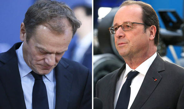 Donald Tusk and Francois Hollande