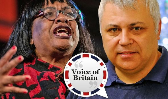 Diane Abbott and Dave Carter