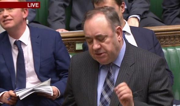 Alex Salmond speaking